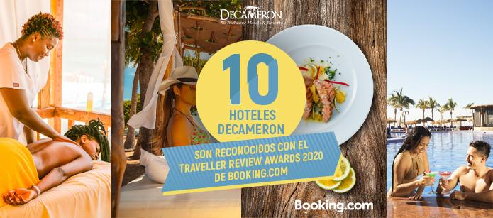 10 de nuestros hoteles fueron reconocidos en los traveller review awards 2020 de booking